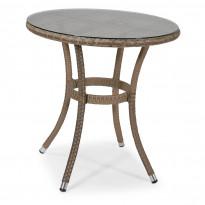 Pöytä Pamplona, Ø70cm, harmaanruskea