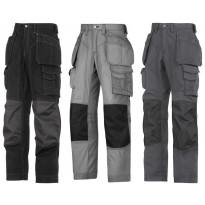Lattia-asentajan housut riipputaskuilla, Rip-Stop, Kevlar®, eri värejä