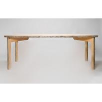 Pöytä Puavila, kelopuuta, puuvahattu, 1000x1000x750mm