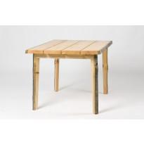 Pöytä Puavila-terassi, kelopuuta, venelakattu, 1000x1000x750mm