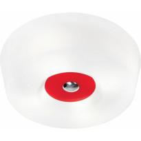 Kattoplafondi Innolux Yki, Ø 500x130mm, valkoinen/punainen