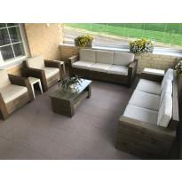 Jäkälä terassikalusto Tammiston puu, 3h-sohva+2xnojatuoli+pöytä, sis.pehmusteet