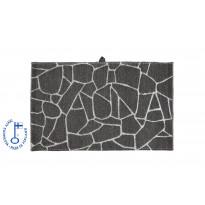 Pyyhe Salasauna, 75x50cm, harmaa/valkoinen