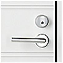 Vasenkätinen ovi (saranat vasemmalla puolella ulkopuolelta katsottuna)