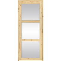 Saunan ovi SLB, 7-8x19, kirkas lasi, puuvalmis