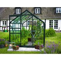 Kasvihuone 6,2m² Halls, lasilla, vihreällä rungolla