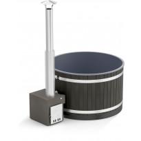 Kylpytynnyri Kirami Comfort Steady M Macu, 4-6hlöä, 1400l, NightBlack/CasualGray, LED-valoilla