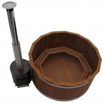 Kylpytynnyri Kirami Original Woody XL Tube Wood, 8-12hlöä