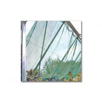 Varjostusverkko, 150x370cm, vihreä, sis.kiinnikkeet