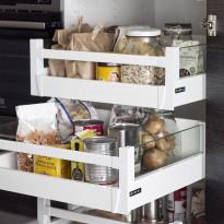 Sisälaatikko korkea Ideal Keittiöt 400 mm runkoon hidasteilla ja lasilaidoilla
