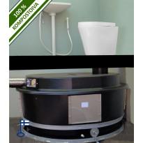 Kompostikäymälä Ekolet SISÄ VS posliini-istuimella