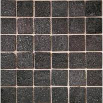 Luonnonkivimosaiikki Hiili, Musta, 30x30cm