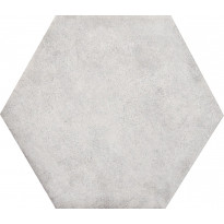 Lattialaatta Kymppi-Lattiat Concrete hex White, 14x16cm