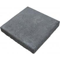 Sileä betonilaatta Lujabetoni, 490x490x60mm, mustaharmaa