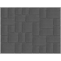 Roomankivet Lakka kivisarja 60mm, musta, 5 eri kokoa, valmis ladontakuvio