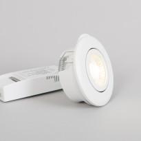 LED-alasvalo FTLight Pallas, 6W, 450lm, 3000K, IP44/IP23, himmennettävä, valkoinen