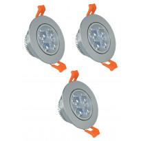 LED-kohdevalosarja ElectroGEAR, IP20, 3-osainen, teräs