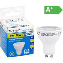 LED-polttimo V-TAC 8W GU10 4000 K, 750 lm