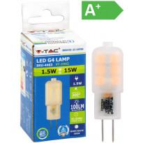 LED-polttimo V-TAC 1.5W G4 3000 K, 100 lm, T18