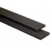 Terassilauta Deckra 21x145x3000 mm, puukomposiitti, musta