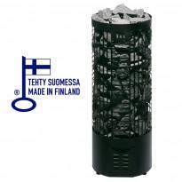 Sähkökiuas Tahko E-malli, 6,6kW (6-9m³), musta