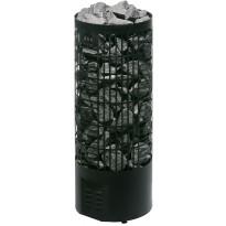 Sähkökiuas Mondex Tahko E-malli, 6.6kW, 6-9m³, erillinen ohjaus, musta