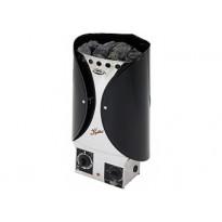 Sähkökiuas Misa Kolibri 12545K, 4.5kW, 3-6m³, kiinteä ohjaus, musta, Verkkokaupan poistotuote