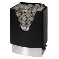 Sähkökiuas Misa Ace 12960, 6kW, 5-8m³, kiinteä ohjaus, rst/musta