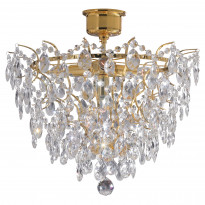 Kattoplafondi Rosendal, kristalli, kulta, 48cm