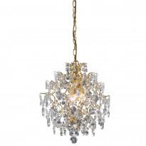Kattokruunu Rosendal, pieni, kristalli, kulta