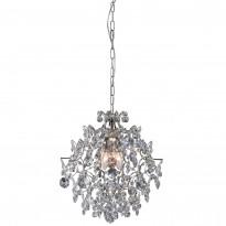 Kattokruunu Rosendal, pieni, kristalli, kromi