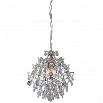 Kattokruunu Rosendal, pieni, kristalli, kromi, Verkkokaupan poistotuote