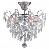 Kattoplafondi Rosendal, kristalli, kromi, 36cm