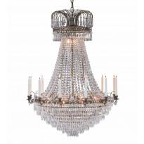 Kattokruunu Läckö, Ø920x1100mm, antiikki/Brilliant-kristalli