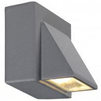 Seinävalaisin Carina, 1-os, harmaa, LED, IP44