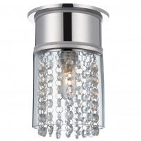 Kristallivalaisin Hjuvik, 14cm, kristalli/kromi, IP44