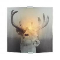 Seinävalaisin Deer, 225x265mm, harmaa kuvioitu