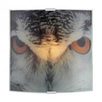 Seinävalaisin Owl, 225x265mm, harmaa kuvioitu