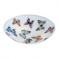 Plafondi Butterfly, Ø350x130mm, lasi kuvioitu