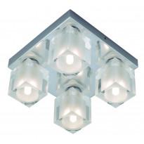 Plafondi Amarant, 200x200x120mm, kromi/kirkas ja huurrelasi