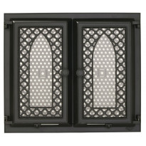 Takkaluukku 0012K, 410x410mm, 2-ovinen, koristeella