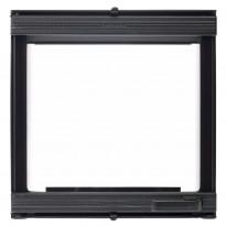 Takkaluukku Euro 0018T, 410x410mm, 1-ovinen, musta