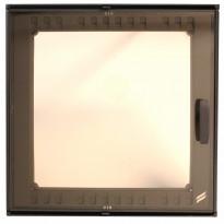 Takkaluukku 2000+, 410x410mm, 1-ovinen, harmaa
