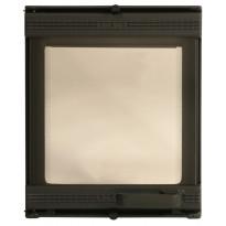 Uuninluukku Euro 0118, 275x335mm, 1-ovinen, lasilla, musta