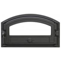 Leivinuuninluukku 0215, 440x205/155mm, lasiluukku, tiivis, musta
