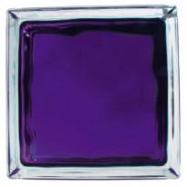 Lasitiili Vitrablok Iris, 1908/W VI, 19x19x8cm, violetti pilvi