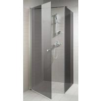 Suihkuovi 90x200cm, harmaa lasi