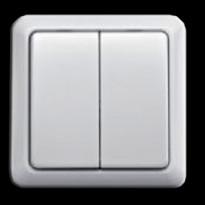 Painikesarja SLO-DUAL Johdoton SLO-10 seinäkytkimelle