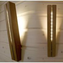 LED-valaisin Lyhty, lämpökäsitelty puu