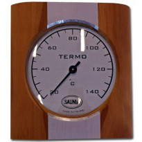 Saunan lämpömittari, lämpökäsitelty puu / alumiini
